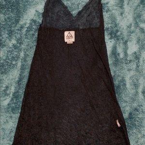 UNIF XS black mesh long tank top